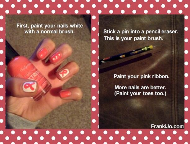 Cancer Ribbon on My Nails